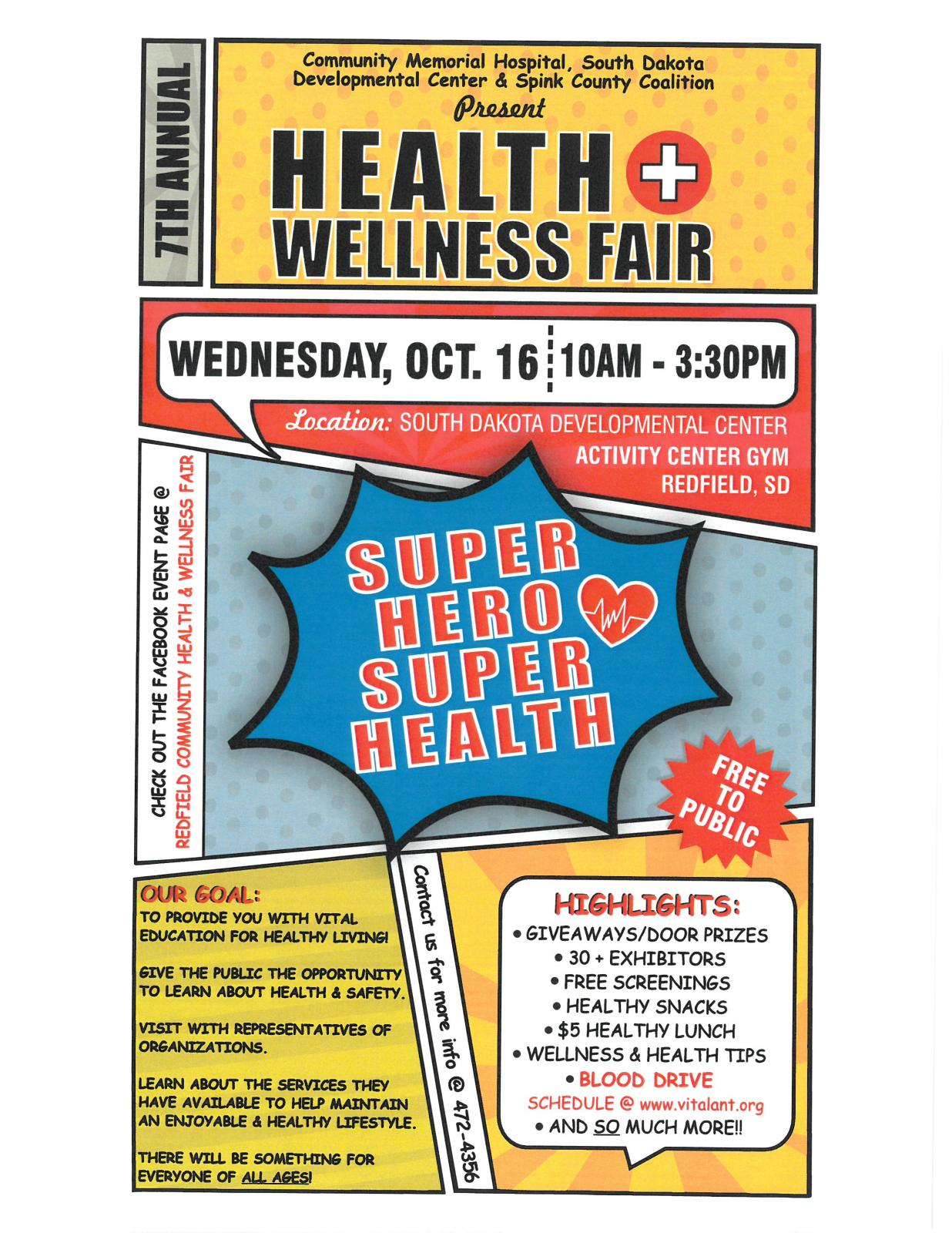 Event Promo Photo For 7th Annual Redfield Community Health and Wellness Fair