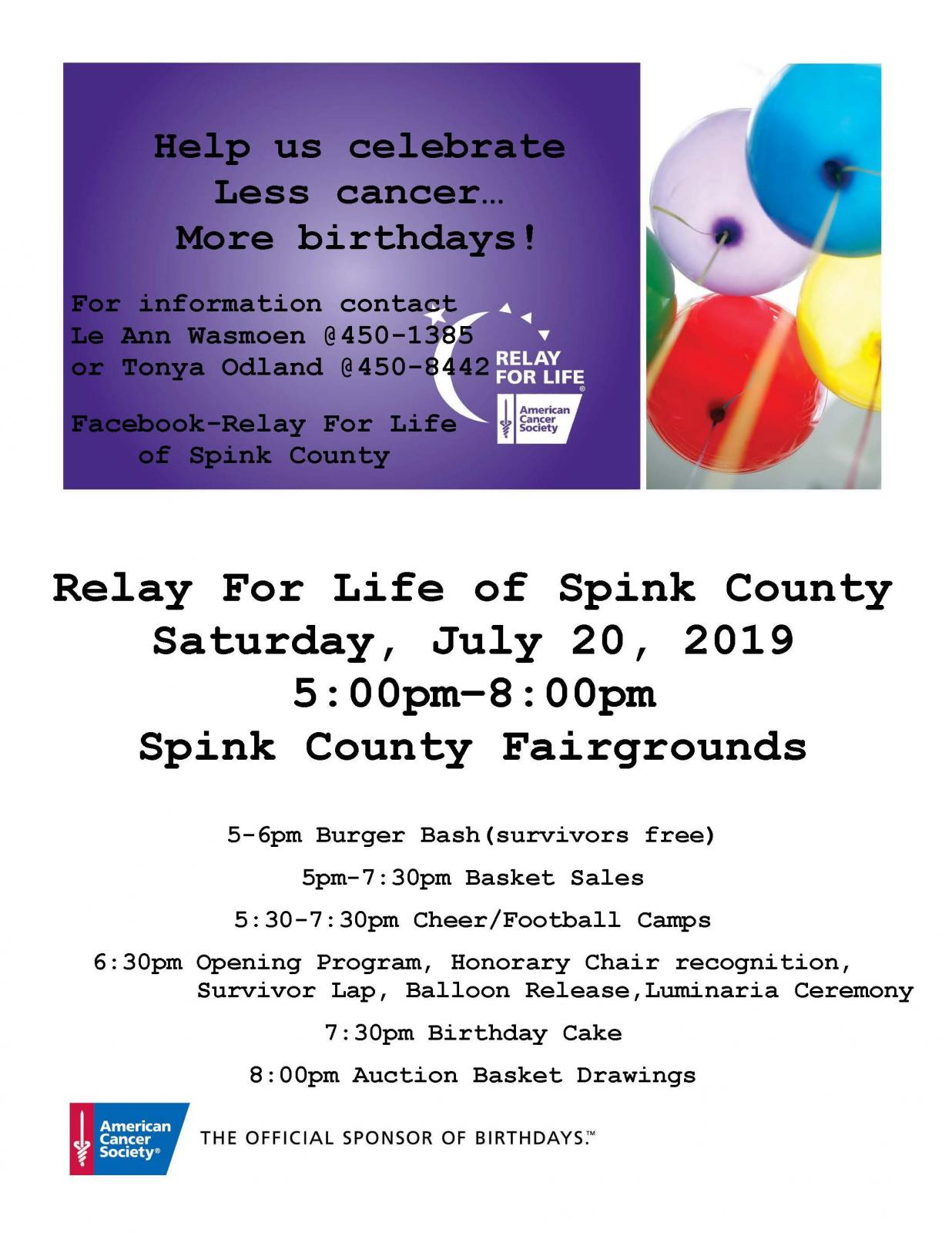2019 Relay for Life Photo - Click Here to See